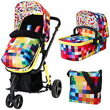 Buy Cosatto Giggle 3-in-1 Travel System with Carrycot and Changing Bag, Pixelate Online at johnlewis.com