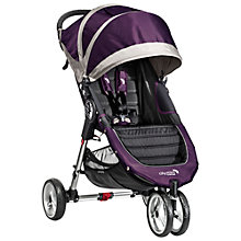 Buy Baby Jogger City Mini 3-Wheel Pushchair, Purple/Grey Online at johnlewis.com