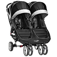 Buy Baby Jogger 2014 City Mini Twin Pushchair, Black/Grey Online at johnlewis.com