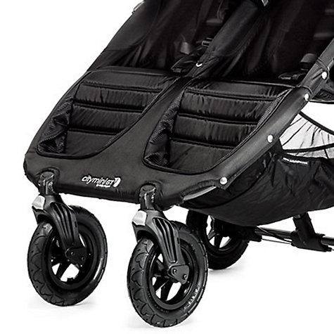 Buy Baby Jogger City Mini Twin Pushchair, Black/Grey Online at johnlewis.com