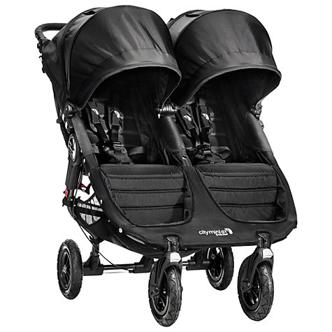 Buy Baby Jogger 2014 City Mini GT Double Pushchair, Black Online at johnlewis.com
