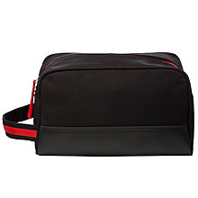 Buy John Lewis Men's Contrast Trim Wash Bag, Black/Red Online at johnlewis.com