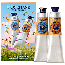 Buy L'Occitane Shea Butter Hand & Foot Duo, 2 x 75ml Online at johnlewis.com