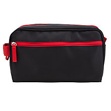 Buy Contrast Trim Nylon Wash Bag, Black / Red Online at johnlewis.com