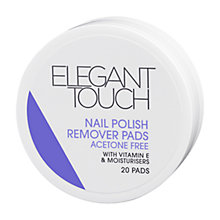 Buy Elegant Touch Nail Polish Remover Pads, Pack of 20 Online at johnlewis.com