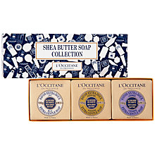 Buy L'Occitane Extra-Gentle Shea Butter Soap Collection, 3 x 100g Online at johnlewis.com
