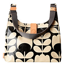 Buy Orla Kiely Tulip Stem Midi Sling Bag, Black/White Online at johnlewis.com