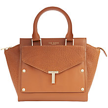 Buy Ted Baker Layally Leather Tote Bag, Tan Online at johnlewis.com