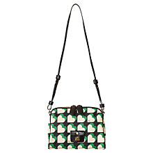 Buy Orla Kiely Love Heart Vinyl Iris Bag, Emerald Online at johnlewis.com