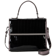 Buy Ted Baker Palolo Metallic Across Body, Black Online at johnlewis.com