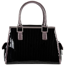 Buy Ted Baker Aranna Metallic Quilted Tote, Black Online at johnlewis.com