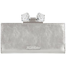 Buy Ted Baker Crocle Exotic Matinee Purse, Silver Online at johnlewis.com