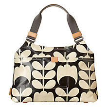 Buy Orla Kiely Tulip Stem Classic Shoulder Bag, Black/White Online at johnlewis.com