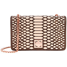 Buy Ted Baker Whirret Metallic Clutch, Bronze Online at johnlewis.com