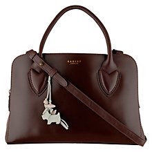 Buy Radley Aldgate Medium Zip Leather Grab Bag, Oxblood Online at johnlewis.com