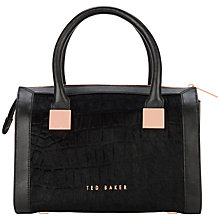 Buy Ted Baker Sampire Metal Square Tote, Black Online at johnlewis.com