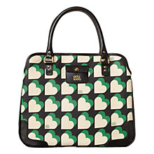 Buy Orla Kiely Love Heart Vinyl Small Jeanie Bag, Emerald Online at johnlewis.com