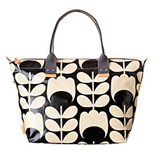 Buy Orla Kiely Tulip Stem Easy Zip Tote, Black/White Online at johnlewis.com