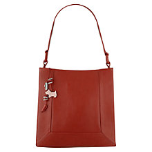 Buy Radley Border Medium Shoulder Bag, Cardinal Online at johnlewis.com