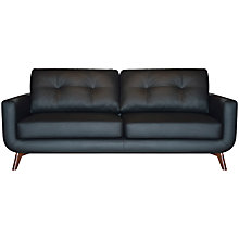 Buy John Lewis Barbican II Large Leather Sofa with Dark Legs Online at johnlewis.com