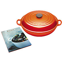 Buy Le Creuset Shallow Cast Iron Casserole and Scandinavian Cookbook, Dia.22cm, Volcanic Online at johnlewis.com
