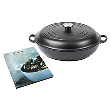 Buy Le Creuset Shallow Cast Iron Casserole and Scandinavian Cookbook, Dia.22cm Online at johnlewis.com