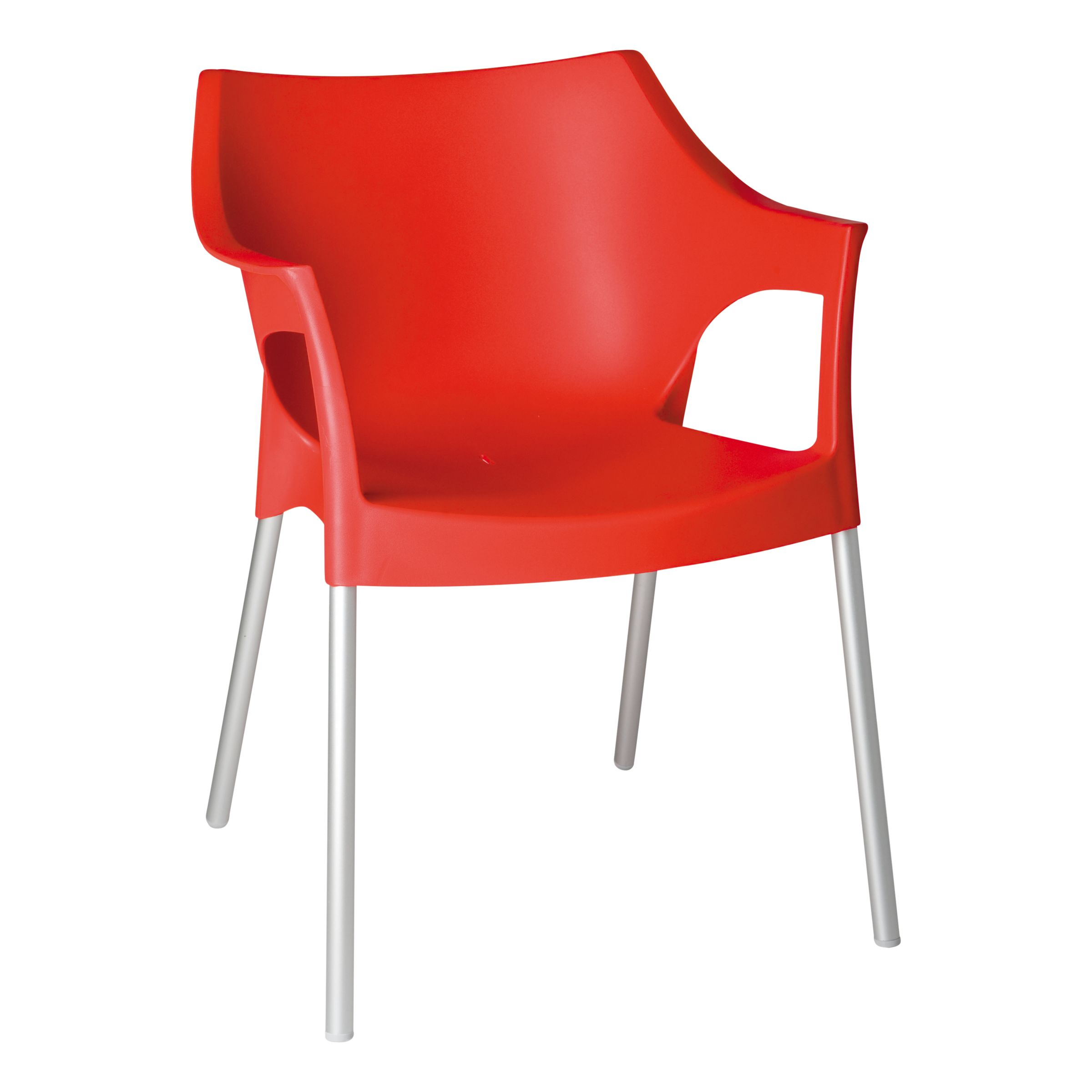 Resol Pole Armchair, Red