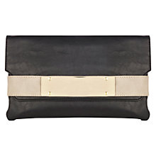 Buy Warehouse Clean Metal Bar Clutch, Black Online at johnlewis.com