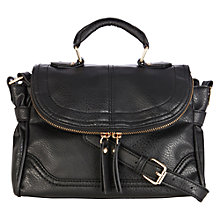 Buy Warehouse Mini Zippy Satchel, Black Online at johnlewis.com