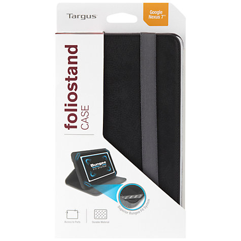 Buy Targus Folio Stand Case for Google Nexus 7 (2013), Black Online at johnlewis.com