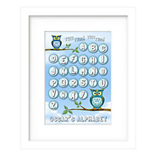 Buy Lillypea Personalised Twit Two Framed Print, Blue, 43 x 33cm, Online at johnlewis.com