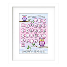 Buy Lillypea Personalised Twit Two Framed Print, Pink, 43 x 33cm, Online at johnlewis.com