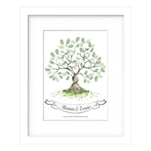 Buy Lillypea Personalised Entwined Fingerprint Framed Print, 53 x 43cm Online at johnlewis.com