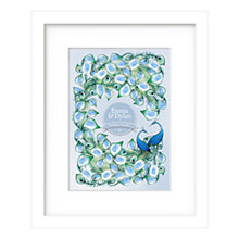 Buy Lillypea Personalised Peacock Journey Fingerprint Framed Print, 53 x 43cm Online at johnlewis.com