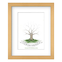 Buy Lillypea Personalised Family Handprint Framed Print, 53 x 43cm Online at johnlewis.com