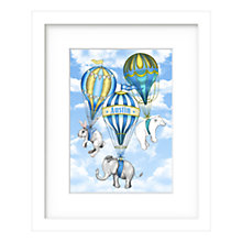 Buy Lillypea Personalised Let's Fly Away Framed Print, Blue, 53 x 43cm Online at johnlewis.com
