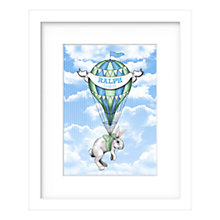 Buy Lillypea Personalised Bunny's Journey Framed Print, Blue, 43 x 33cm Online at johnlewis.com