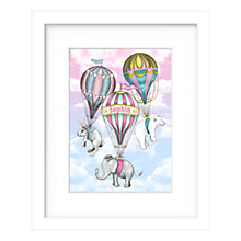 Buy Lillypea Personalised Let's Fly Away Framed Print, Pink, 53 x 43cm Online at johnlewis.com