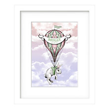 Buy Lillypea Personalised Bunny's Journey Framed Print, Pink, 43 x 33cm Online at johnlewis.com