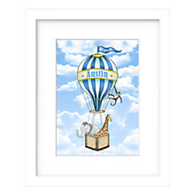 Buy Lillypea Personalised Animal's Journey Framed Print, Blue, 43 x 33cm Online at johnlewis.com