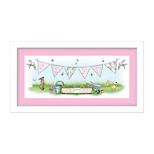 Buy Lillypea Personalised Garden Bunting Framed Print, Pink, 23.2 x 34.5cm Online at johnlewis.com