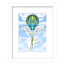 Buy Lillypea Personalised Polar Bear's Journey Framed Print, Boy, 43 x 33cm Online at johnlewis.com