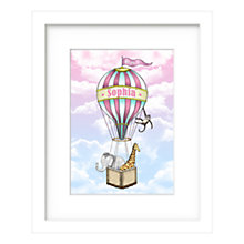 Buy Lillypea Personalised Animal's Journey Framed Print, Pink, 43 x 33cm Online at johnlewis.com