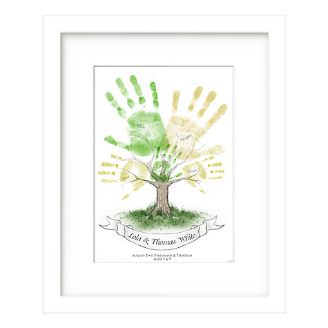 Buy Lillypea Personalised Child's Handprint Framed Print, 33 x 43cm Online at johnlewis.com