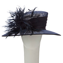 Buy Walter Wright Leia 2  East West Small Occasion Hat, Navy Online at johnlewis.com