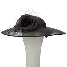 Buy Walter Wright Gwen Shallow Down Brim Hat, Black Online at johnlewis.com