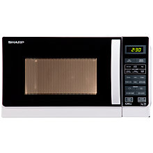 Buy Sharp R662WM Microwave with Grill, White Online at johnlewis.com
