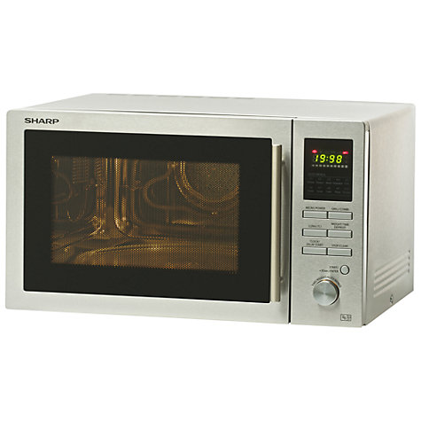 Buy Sharp R82STMA Microwave with Grill, Stainless Steel Online at johnlewis.com