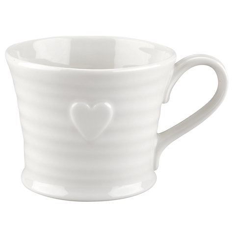 Buy Sophie Conran for Portmeirion Embossed Heart Mug Online at johnlewis.com