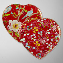 Buy PiP Studio Heart Blossom Plate, Multi Online at johnlewis.com
